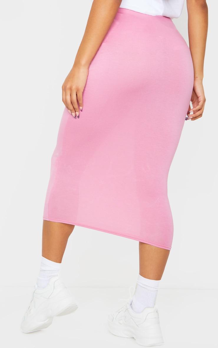 Dusty Pink Ultimate Jersey Longline Midi Skirt 3