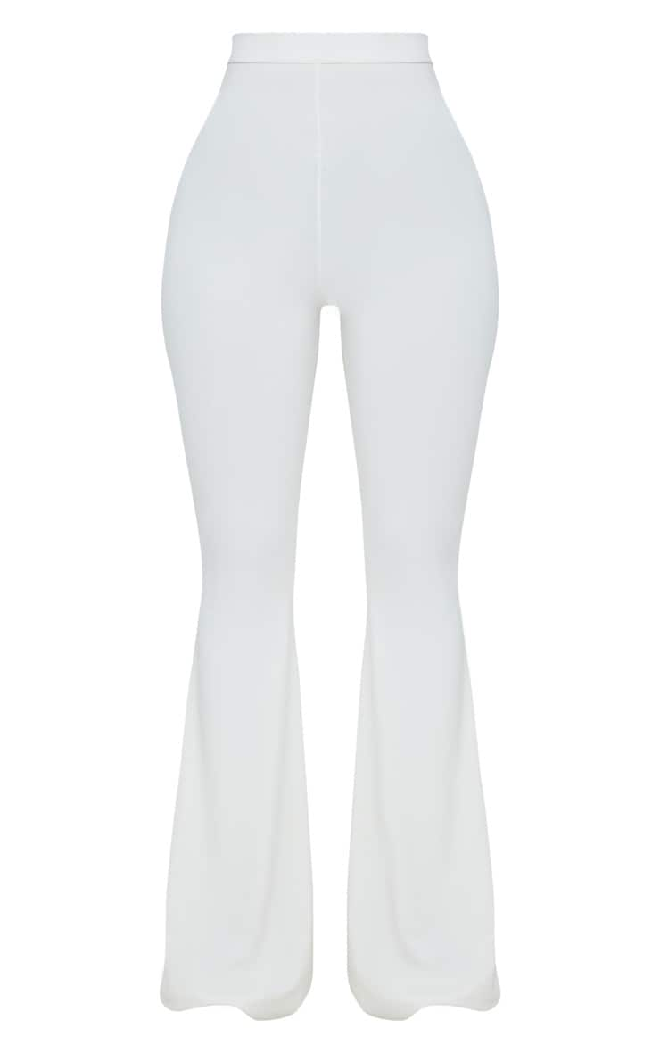 Shape White Slinky Flared Trousers 3