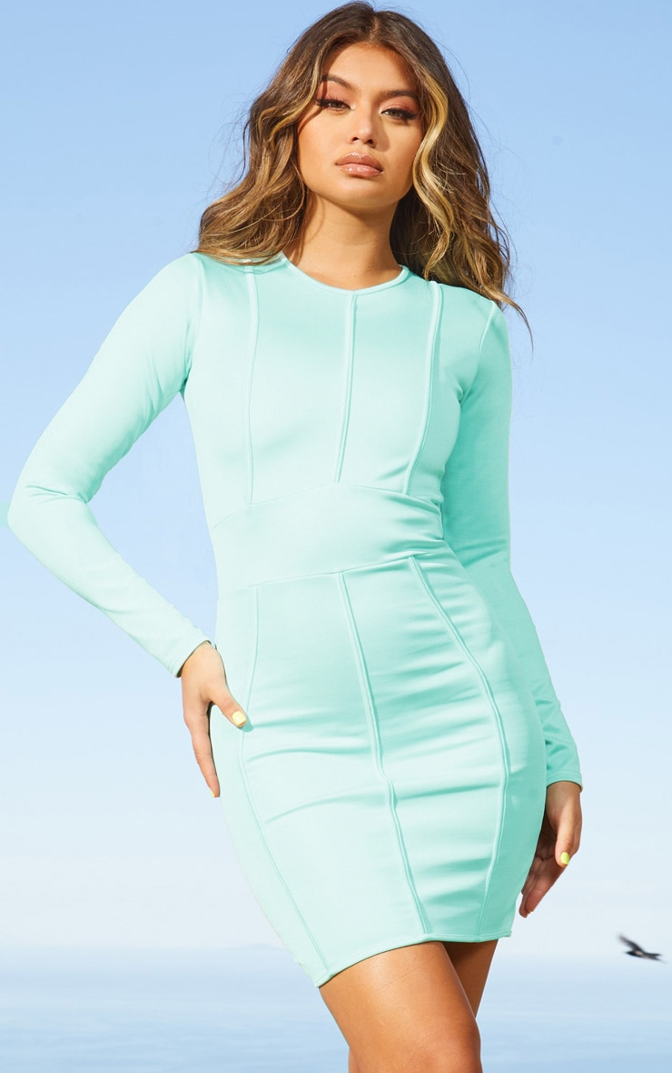 Aqua Second Skin Binding Detail Bodycon Dress 1