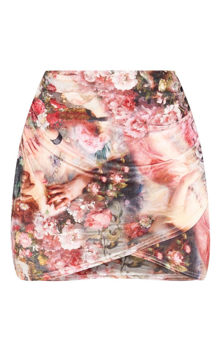 Stone Renaissance Velvet Wrap Skirt 3