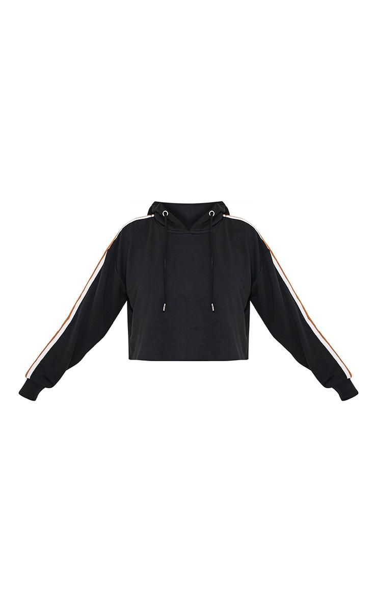 Black Side Stripe Hoodie 3