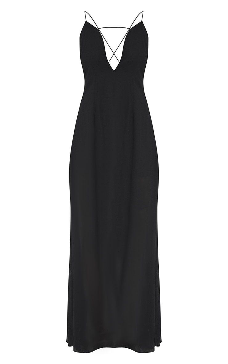 Black Knot Back Maxi Dress 3