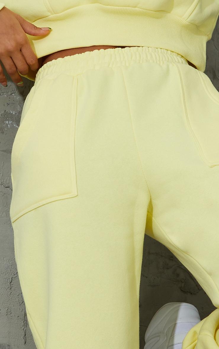 Yellow Pocket Cuffed Joggers 4