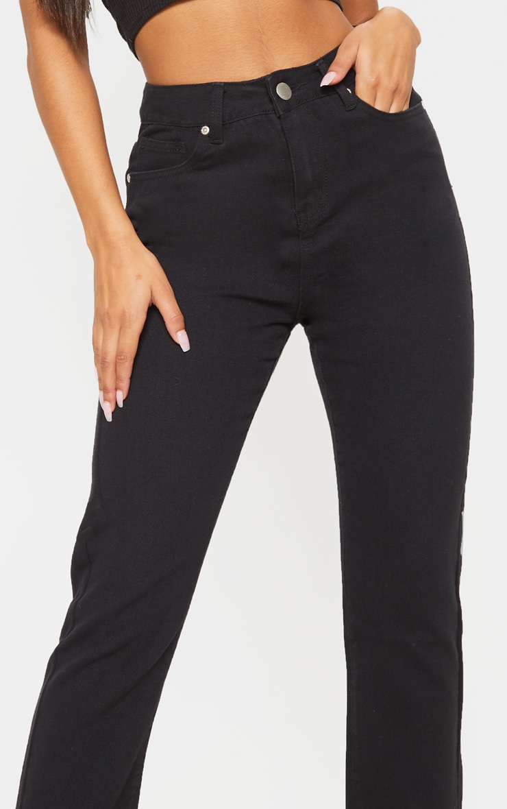 Black Basic Straight Leg Jean 5