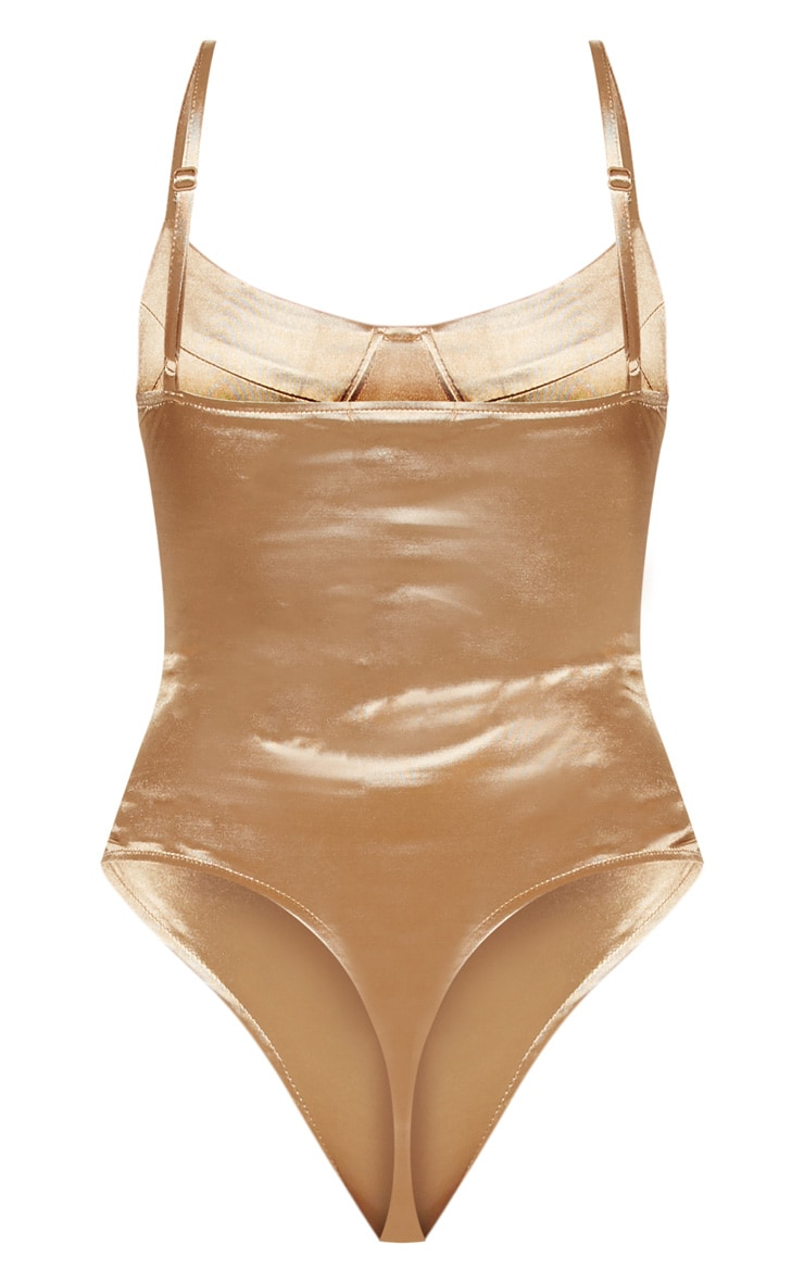 Champagne Stretch Satin Body 4