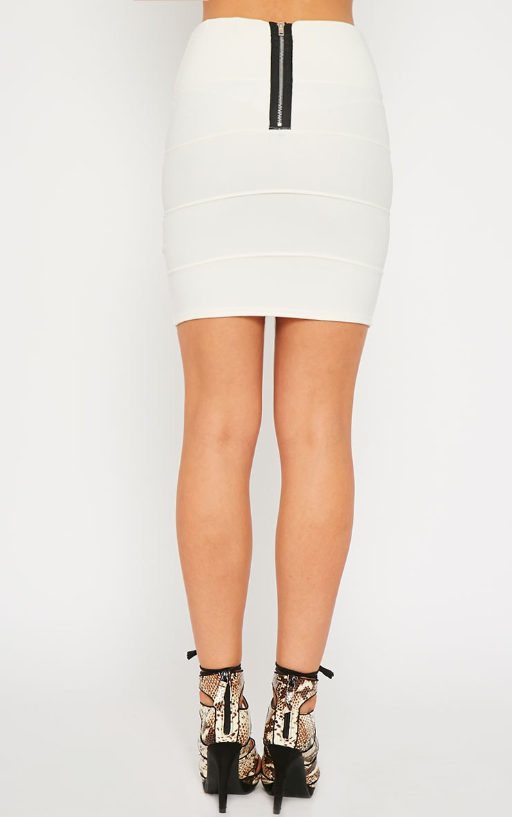 Anel Cream Bandage Mini Skirt  4
