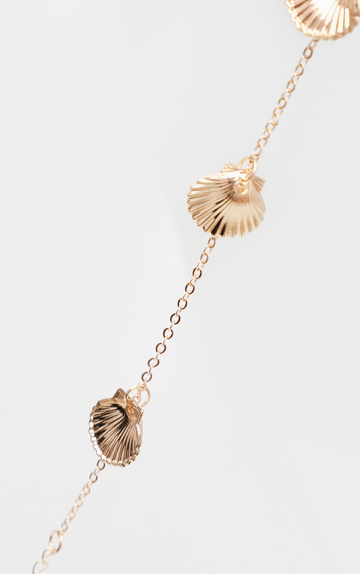 Gold Shell Charm Anklet 4