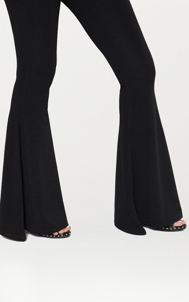 Pantalon flare noir extrême  4