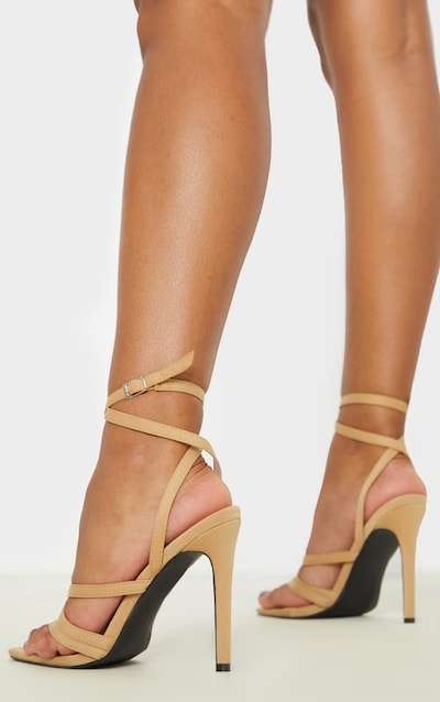 Nude Point Toe Multi Strappy Sandal