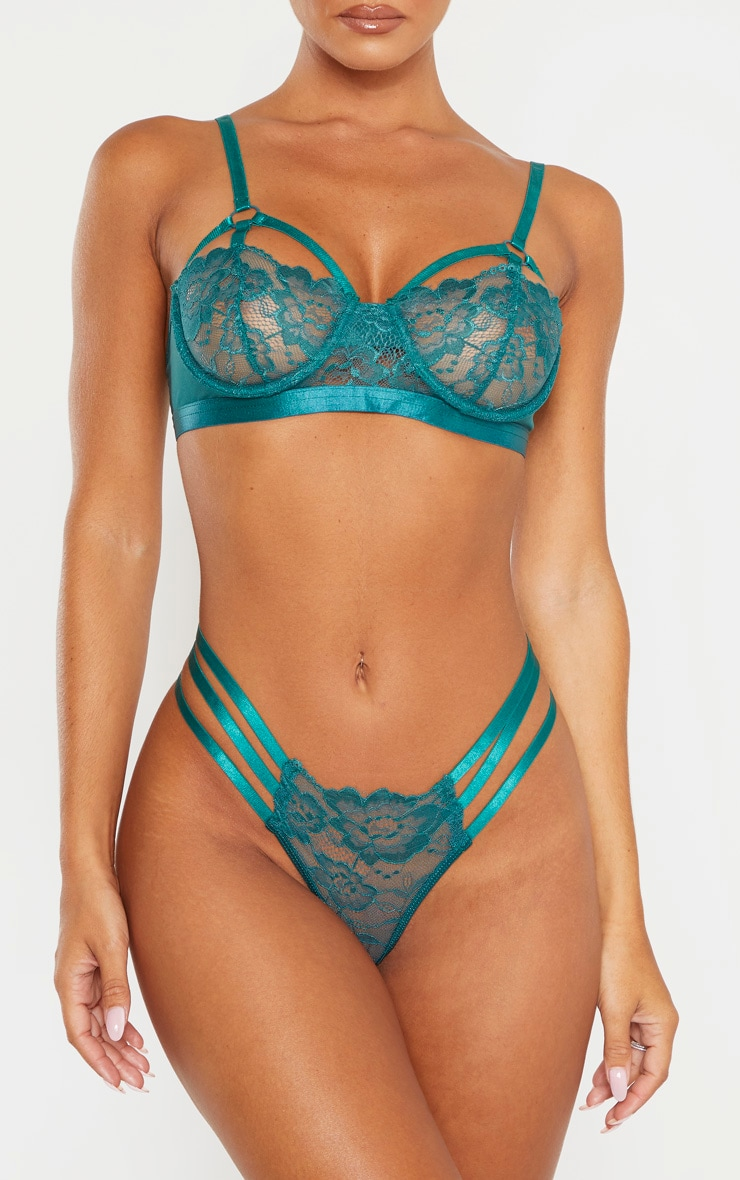 Emerald Strapping Detail Panties 1