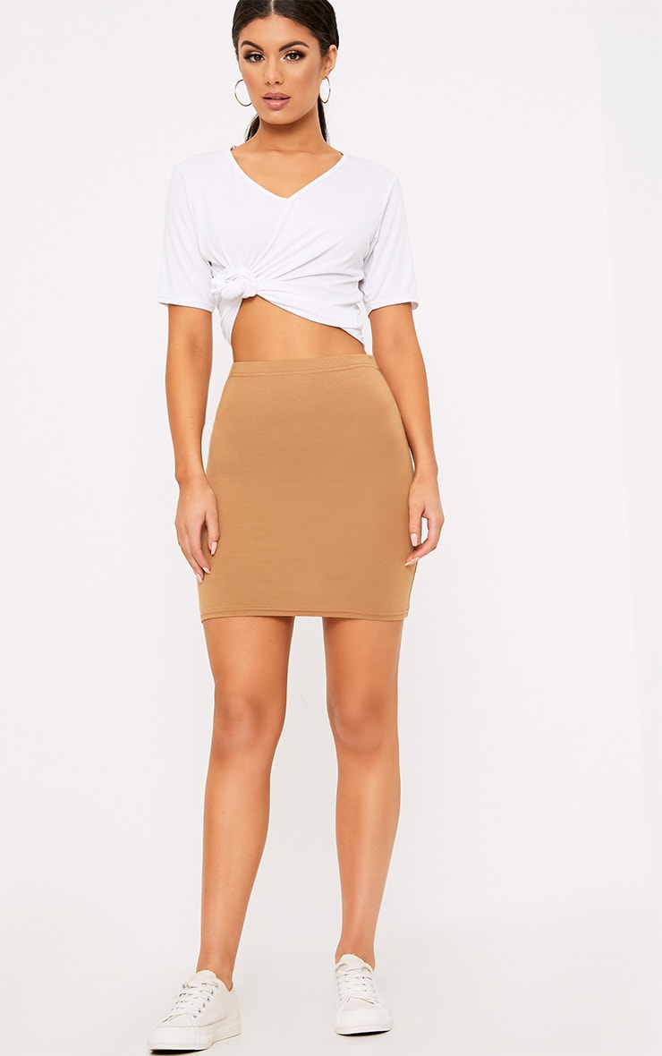 Basic Black & Camel Jersey Mini Skirt 2 Pack 7