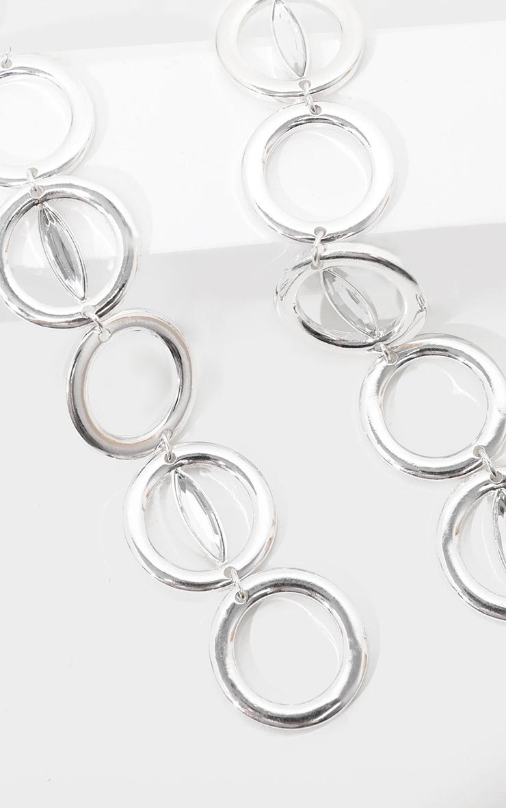 Collier lasso argenté à design chaîne d'anneaux 5