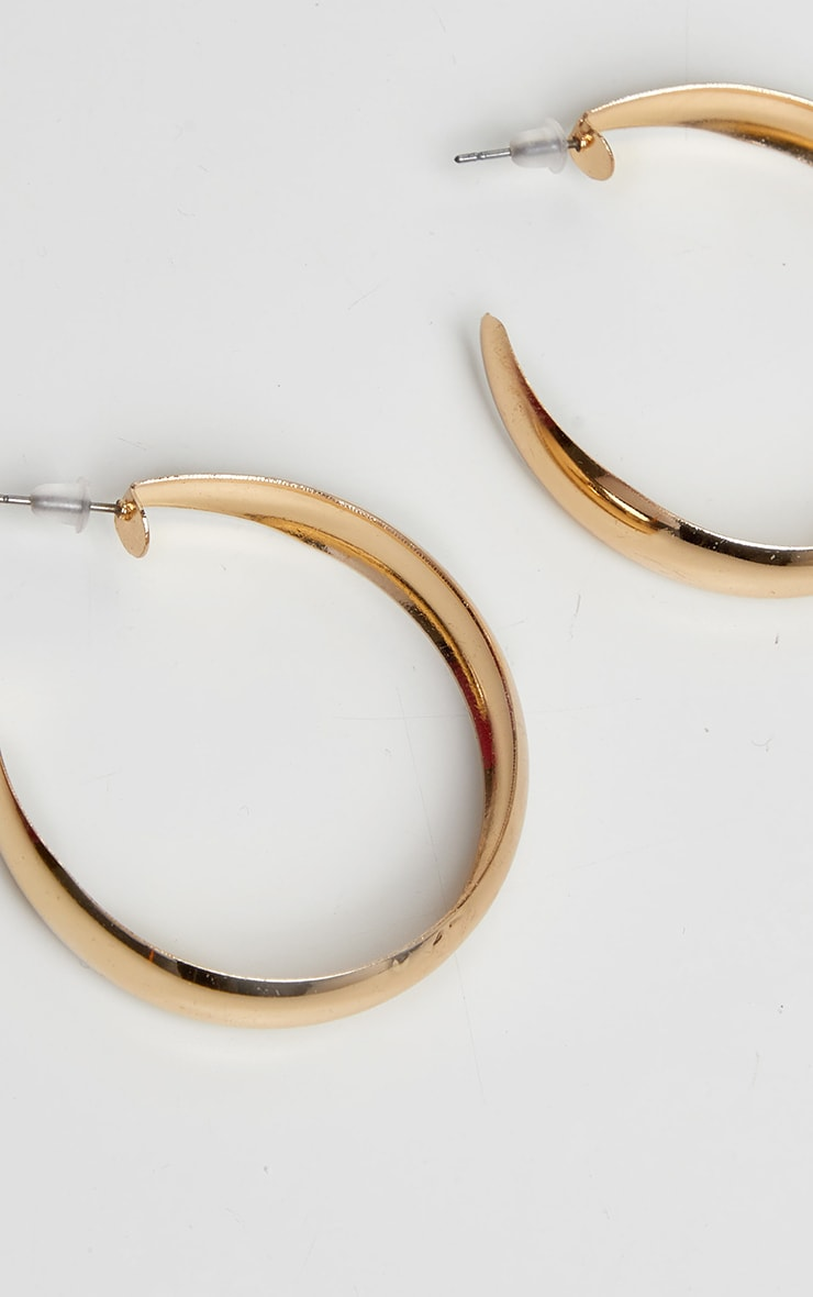 Gold Simple Small Hoop Earrings 3