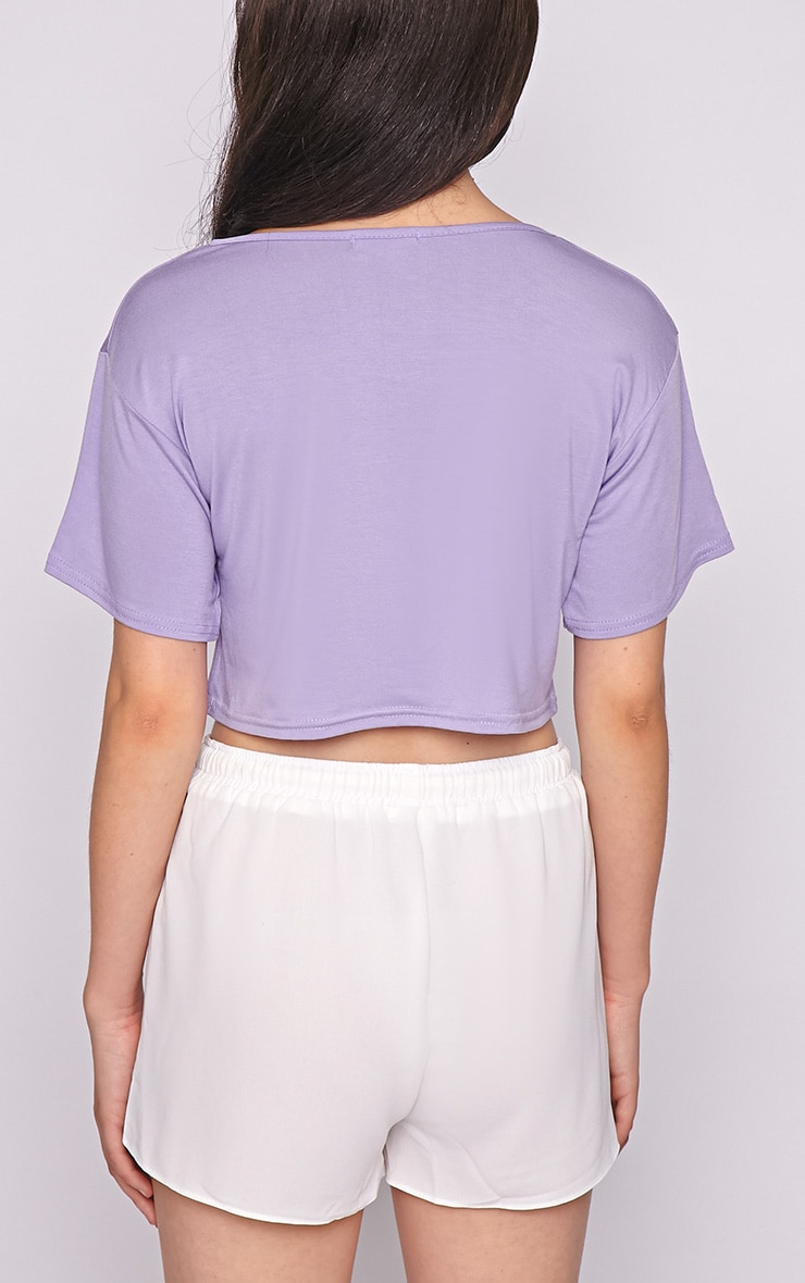 Lucille Lilac Boyfriend Crop Top 2