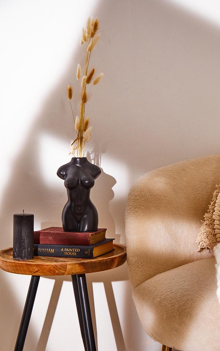 PRETTYLITTLETHING Black Large Jasmine Scented Pillar Candle 2