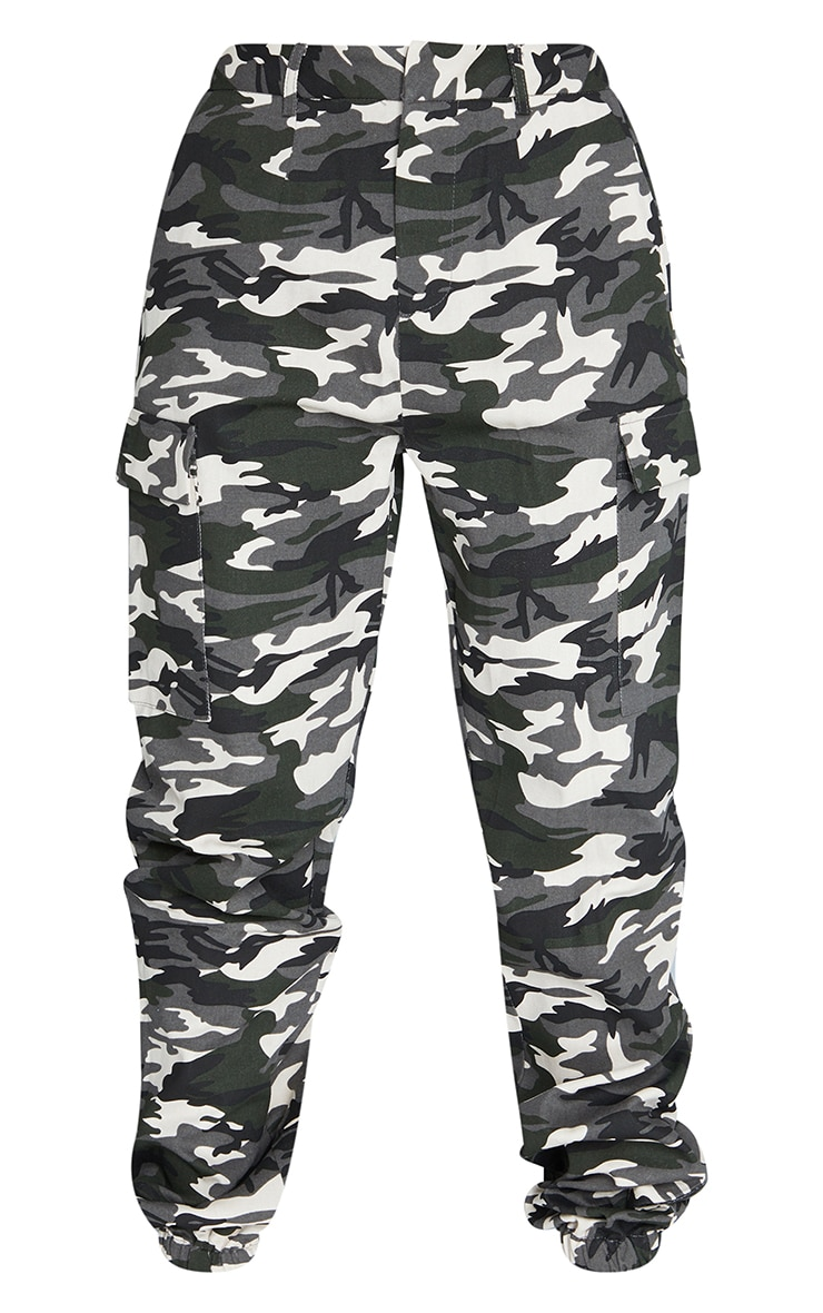 Grey Camo Pocket Detail Cargo Trouser 5