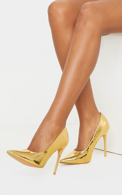 Gold Court Shoes