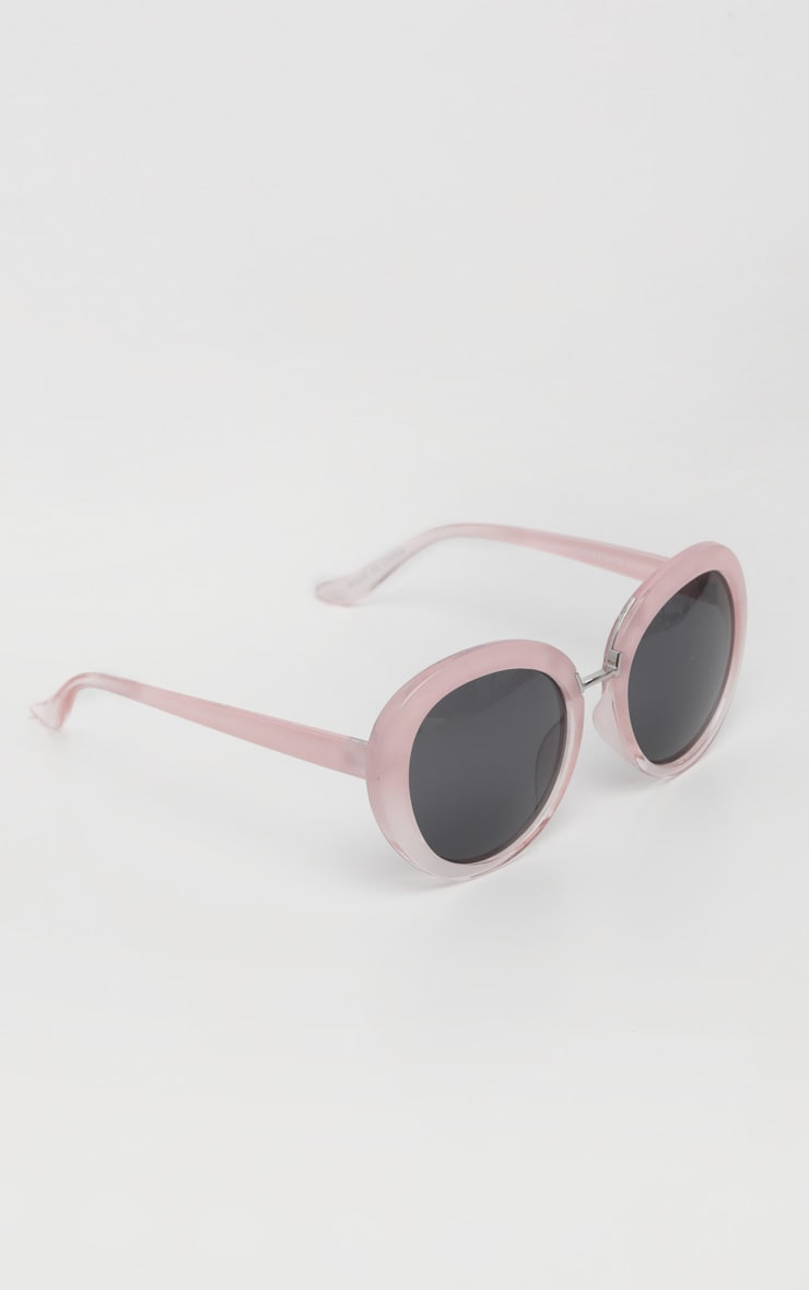 Pink Oversized Oval Sunglasses 3