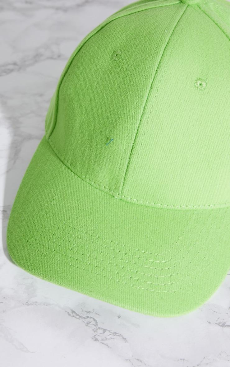 Lime Baseball Cap 4