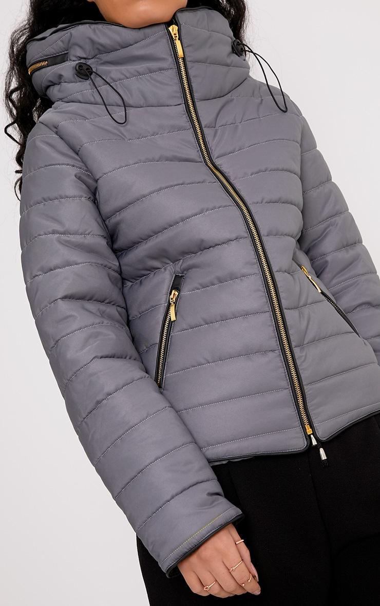 Mara Light Grey Puffer Jacket 5