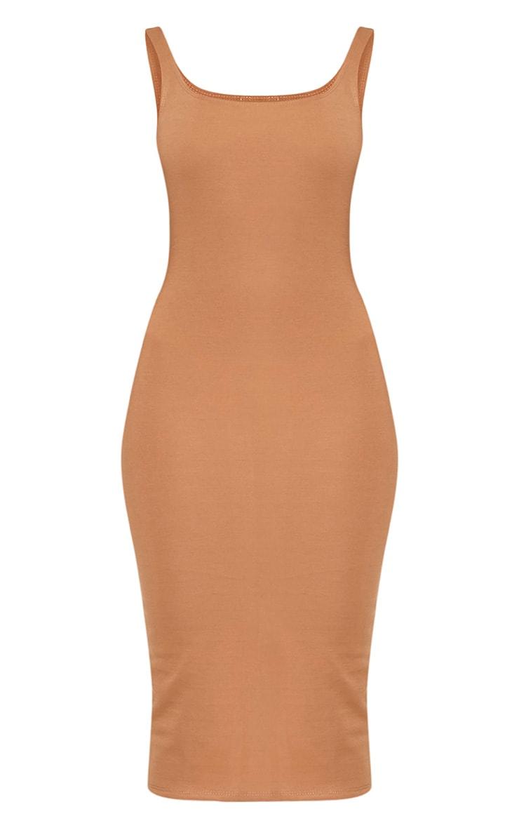 Savana Camel Square Neck Midi Dress 3