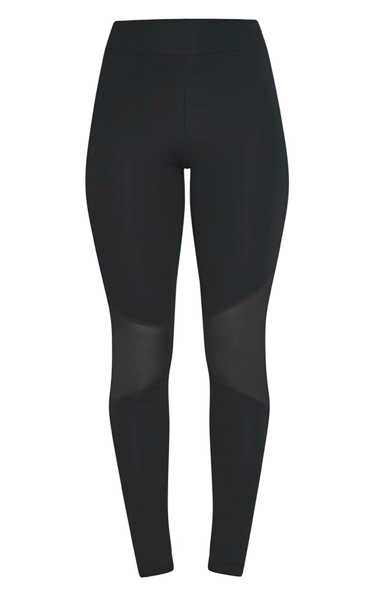 Eliana Black Mesh Insert Leggings 3