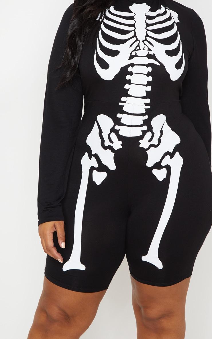 PLT Plus - Combi moulante noire à imprimé squelette et col haut 5