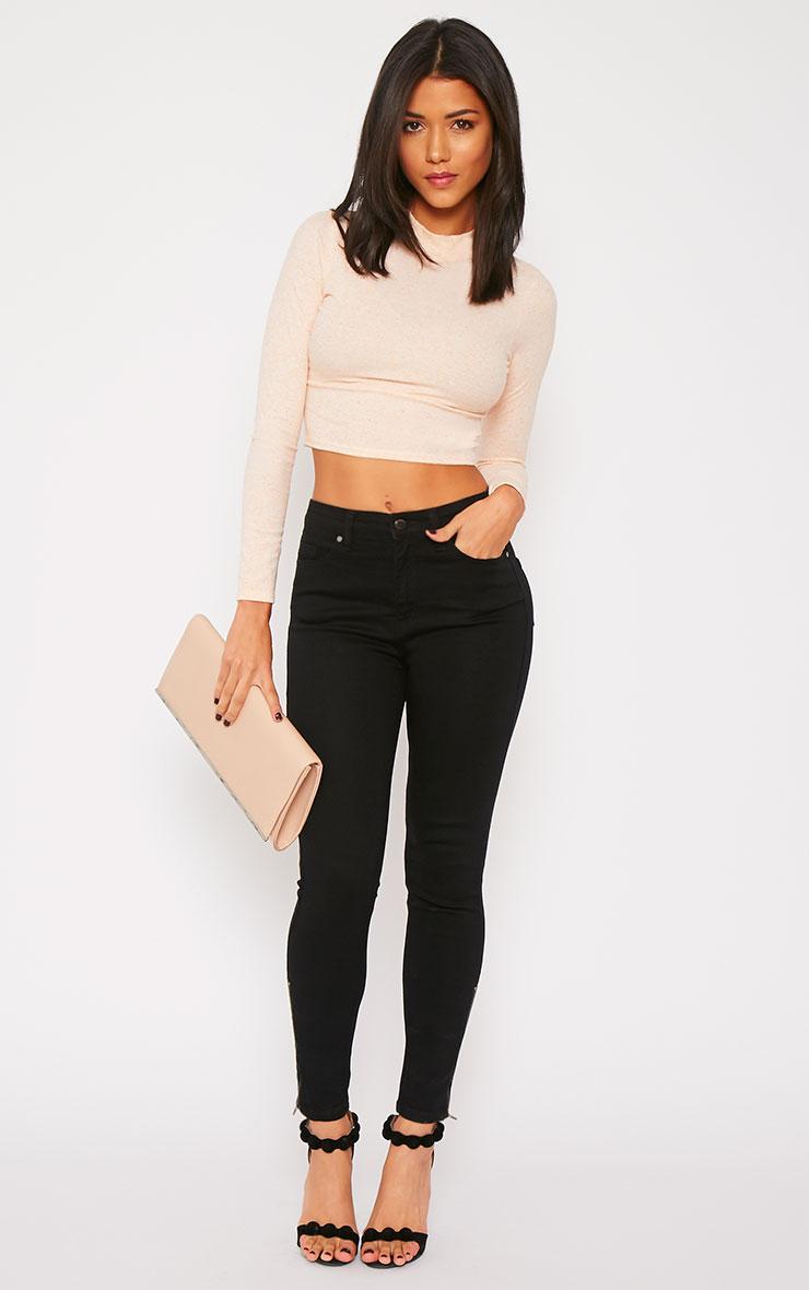 Hari Black Mid Rise Ankle Zip Skinny Jean 1