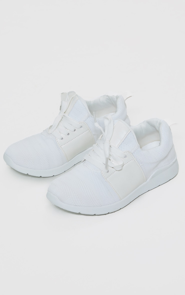 White Knitted Sneakers 3