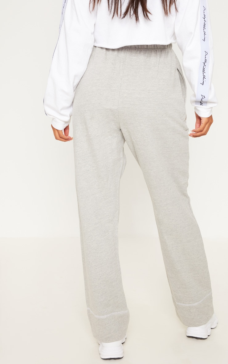 Grey Marl Drawstring Loose Fit Jogger 4