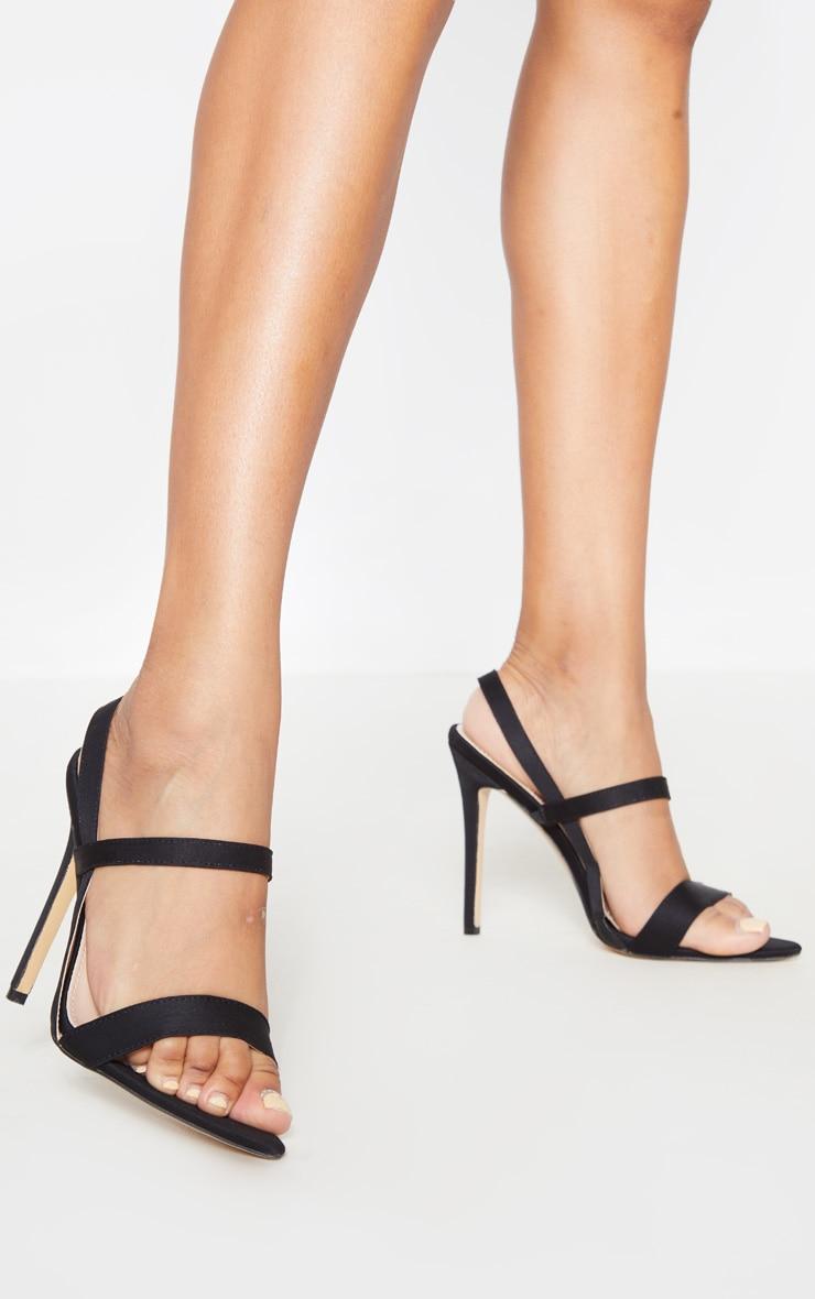 Sandales noires pointues à brides 1