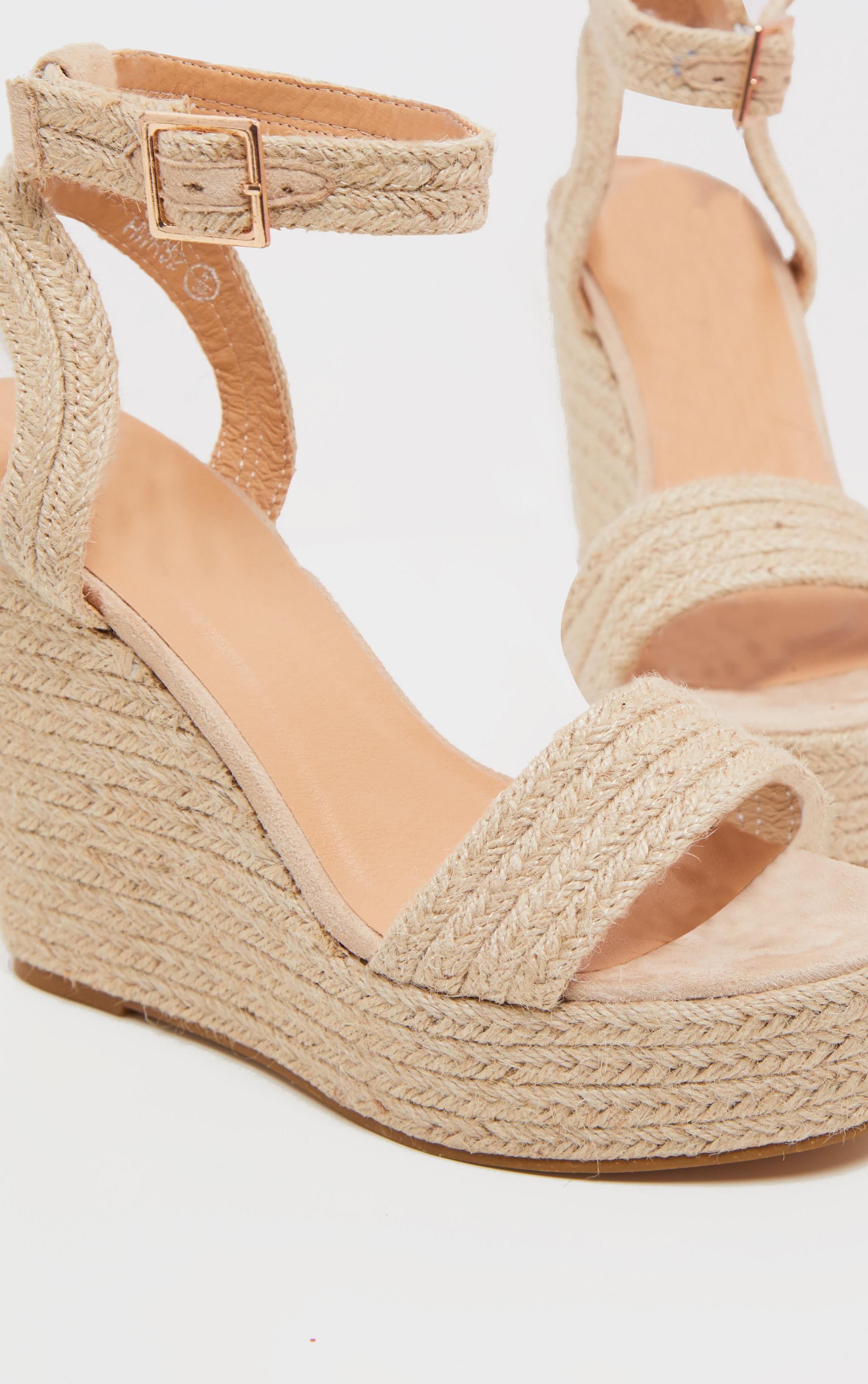 Natural Espadrille Wedge Sandal 3