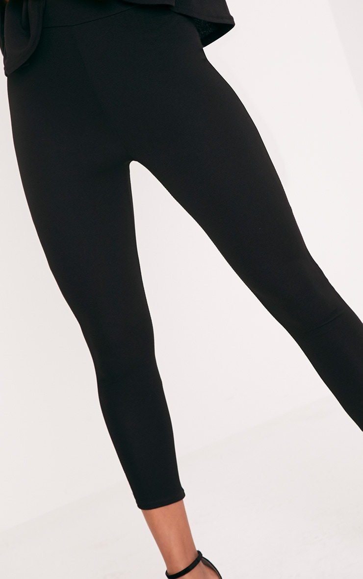 Evalyn Black Cropped Trousers 5
