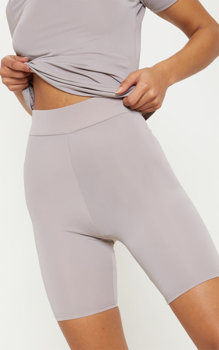 Grey Basic Gym Cycle Short 6
