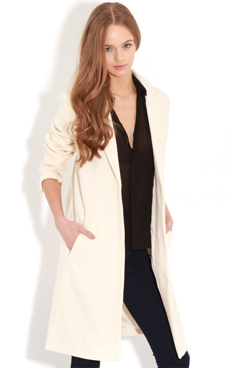 Avril Cream Longlined Boyfriend Coat 4