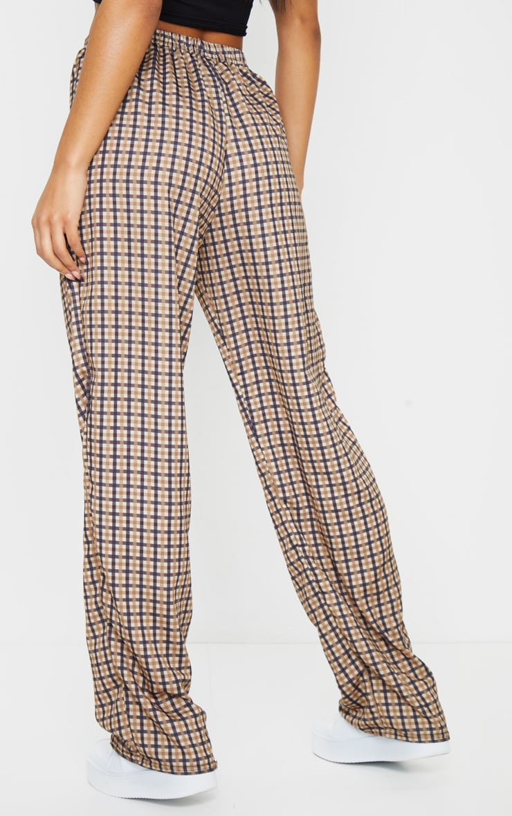 Stone Checked Wide Leg Pants 3