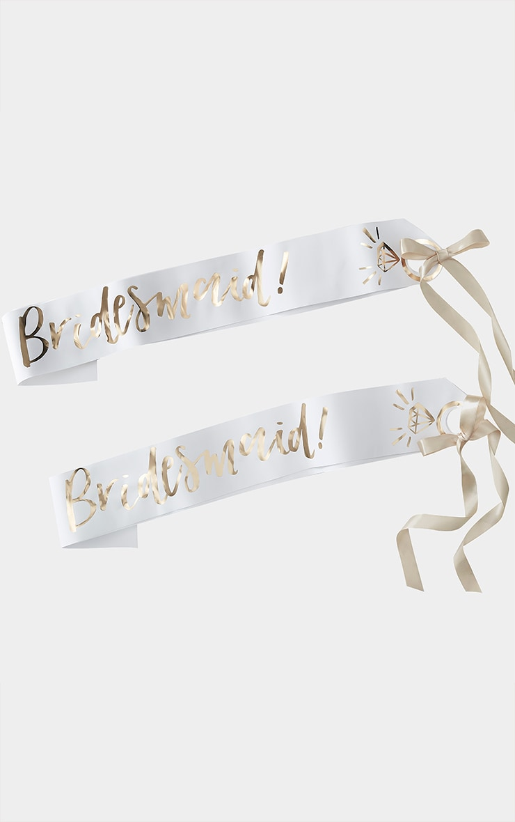 Ginger Ray Bridesmaid Sash 2 Pack 3