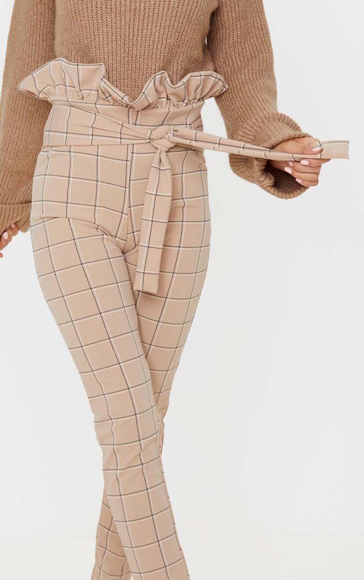 Stone Check Tweed Check Paperbag Skinny Pants 5