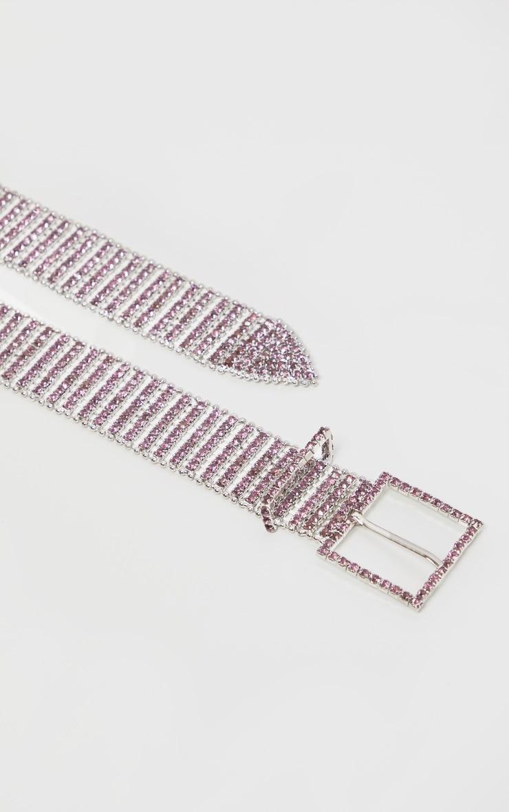 Lilac Diamante Chain Link Belt 3