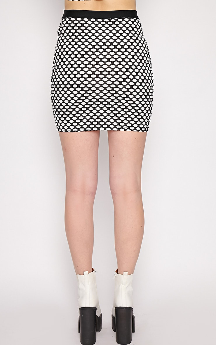 Lara White Spotted Skirt -M/L 2