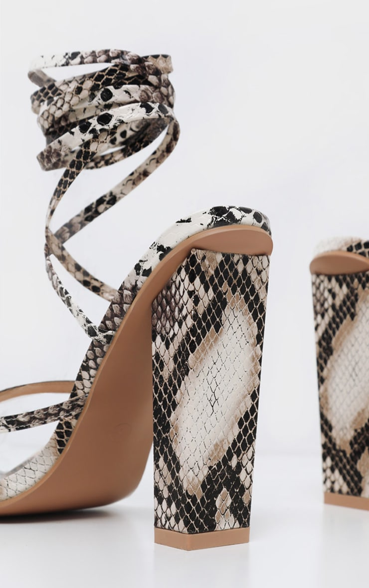 Snake Toe Loop Heeled Sandal 3