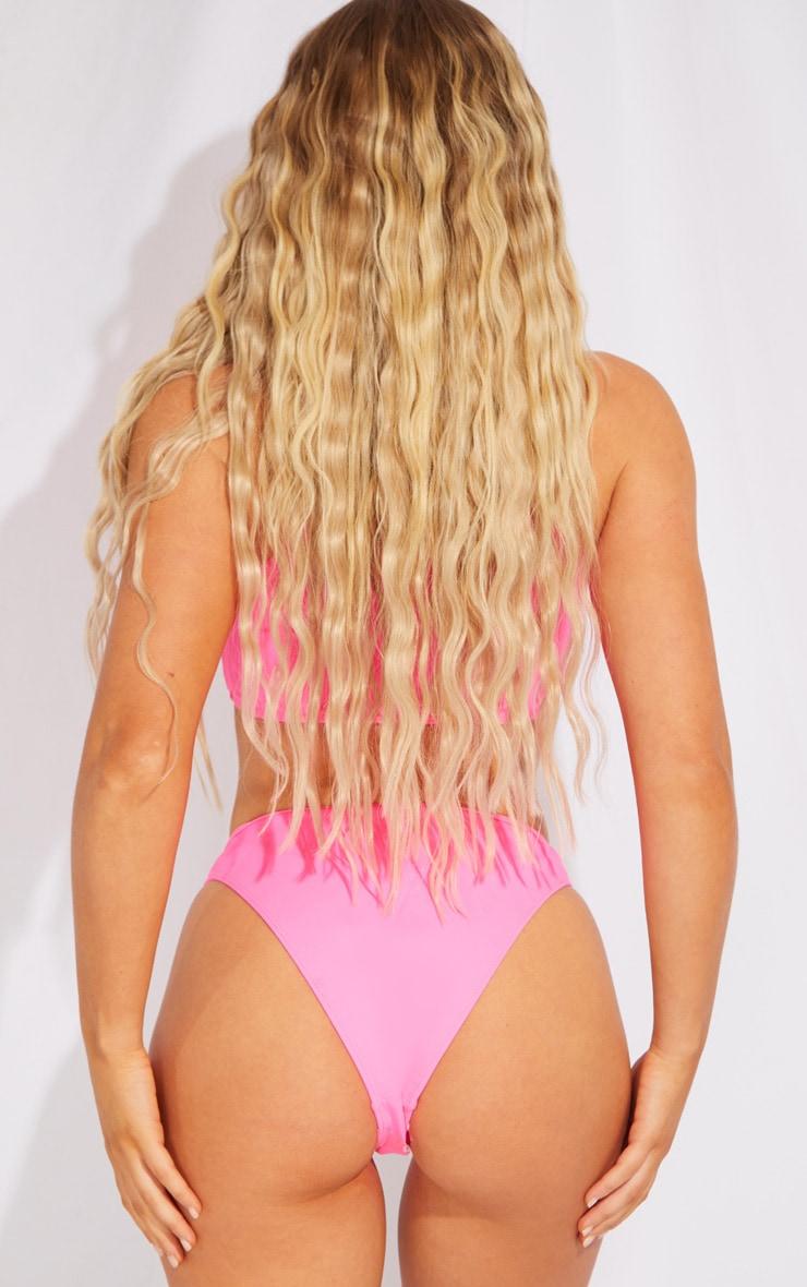 Pink Scuba High Leg Bikini Bottoms 3