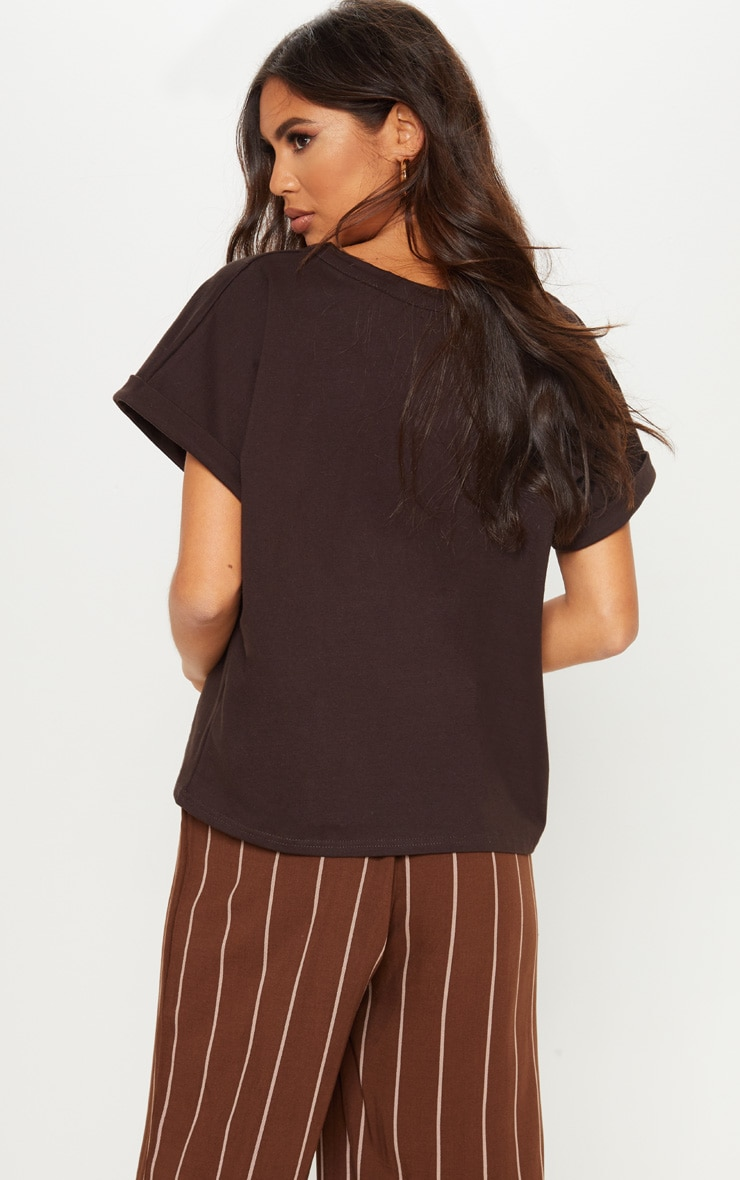 Chocolate Low Arm T Shirt 2