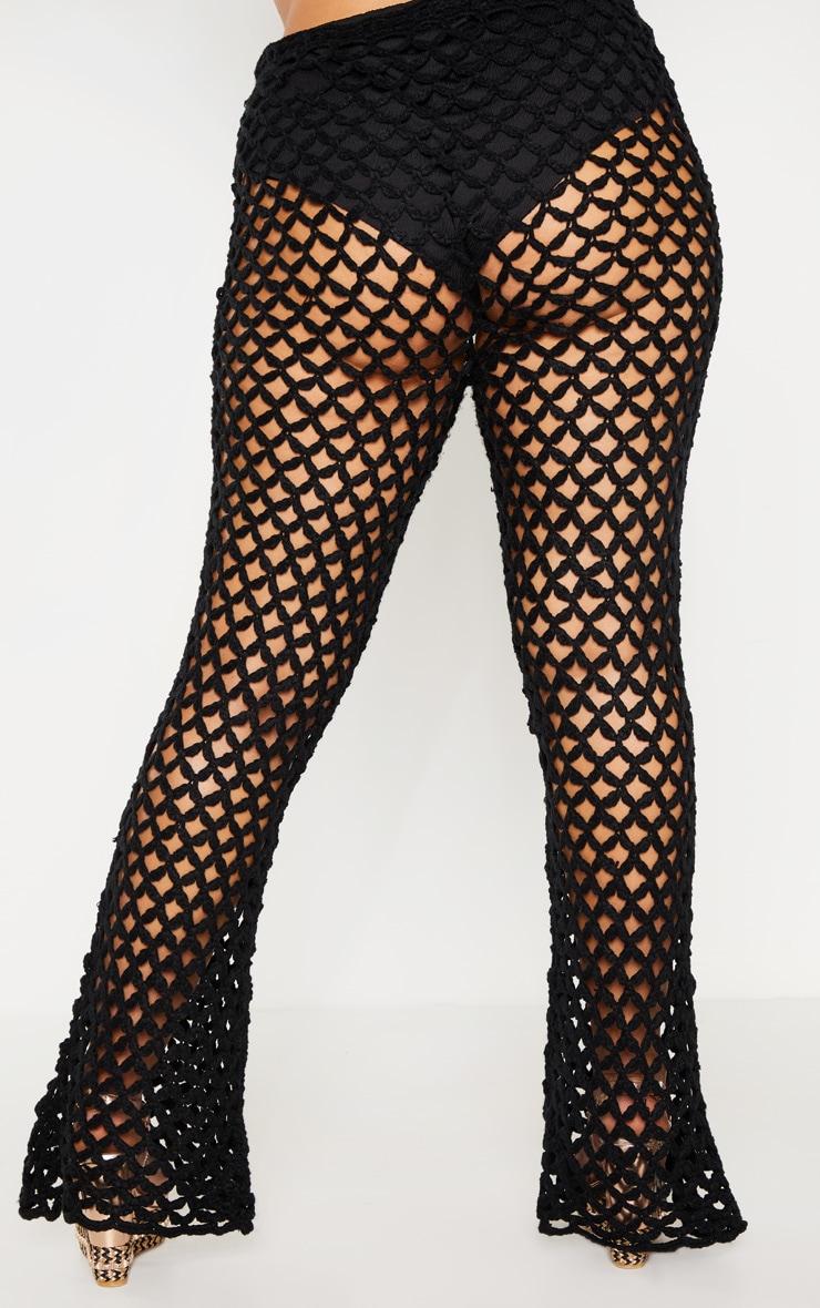 Plus Black Crochet Flares 4