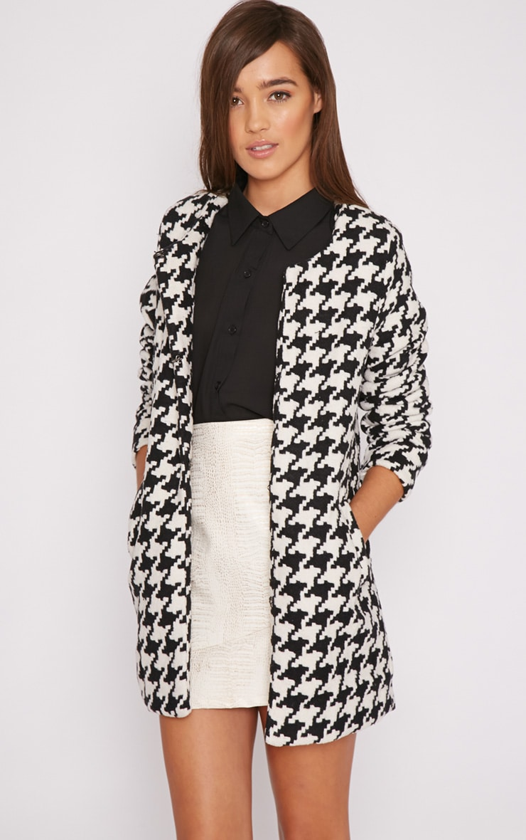 Megane Monochrome Dogtooth Coat 1