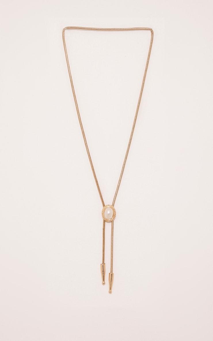 Madora Gold Pearl Pendant Western Choker 1