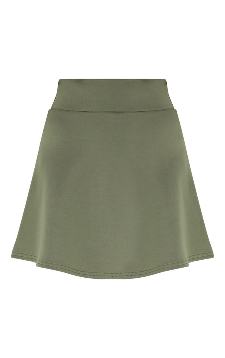 Peach Scuba Flippy Mini Skirt  3