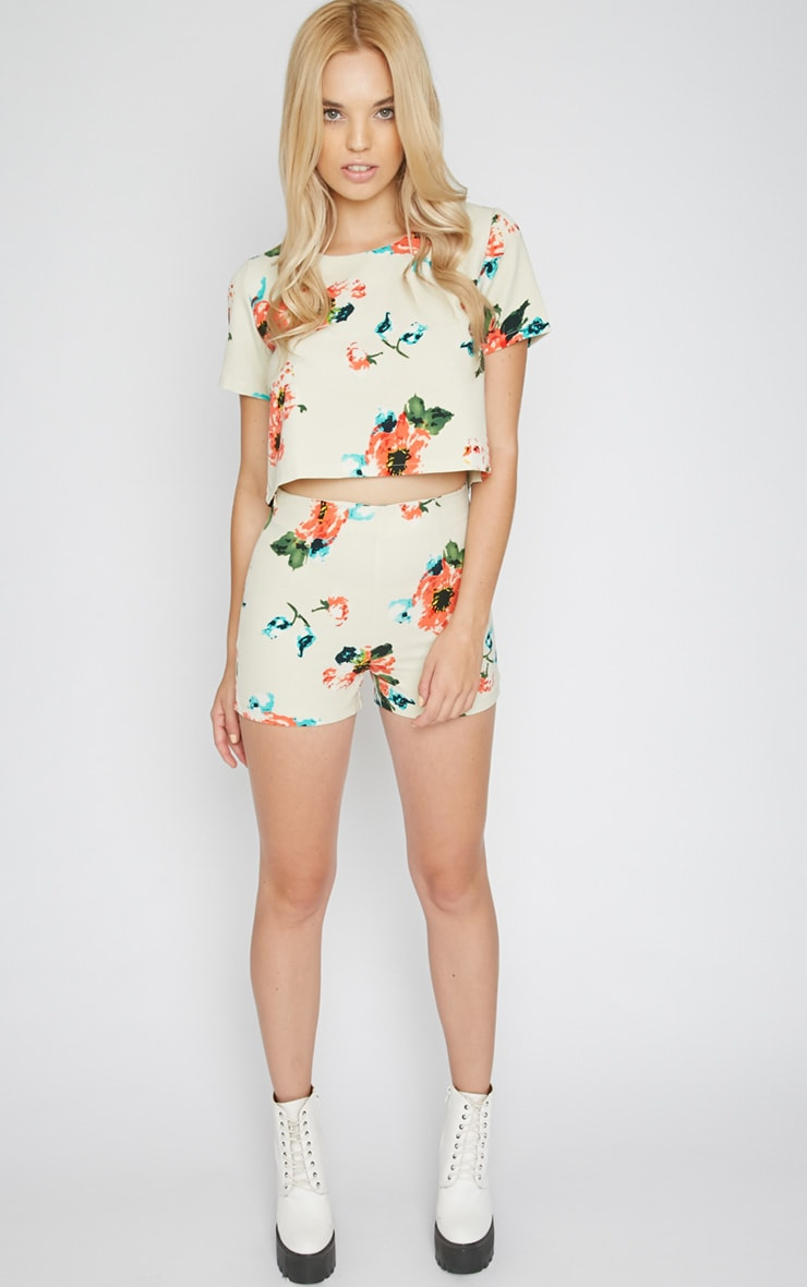 Marianne Cream Floral Short  3