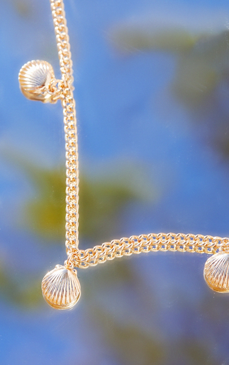 Gold Dainty Assorted Shell Necklace 4