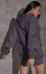 Recycled Charcoal Oversized Sweat Hoodie 2
